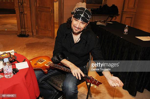 Bruce Kulick backstage before the Monster Circus concert at the Las Vegas Hilton on March 26 2009 in Las Vegas Nevada