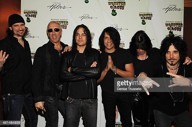 Bruce Kulick Dee Snider Fred Coury Tony Montana Rudy Sarzo and John Corabi appears at a preconcert party at Shimmer Lounge at the Las Vegas Hilton on...