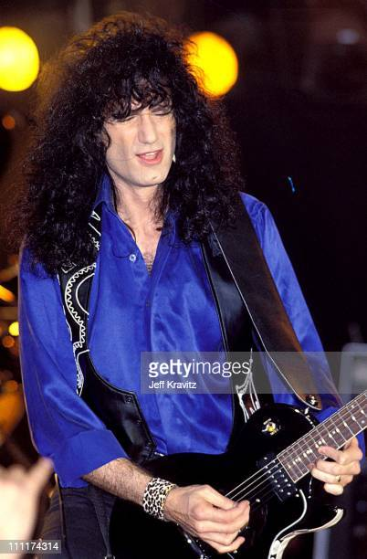 Bruce Kulick with Kiss during Kiss in 1990 Concert in Los Angeles California United States