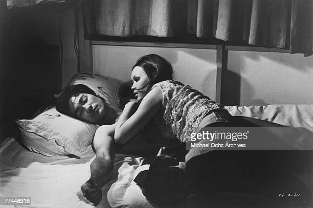 Bruce Lee and Malalene in a scene from the Kung Fu classic Fists Of Fury in 1971 in Hong Kong China