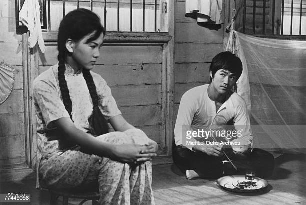 Bruce Lee and Maria Yi in a scene from the Kung Fu classic Fists Of Fury in 1971 in Hong Kong China