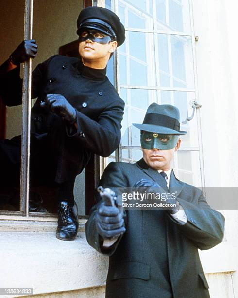 Bruce Lee Chinese American actor and martial artist and Van Williams US actor both in costume in a publicity portrait issued for the US television...