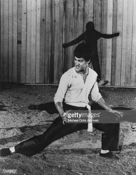 Bruce Lee in a scene from the Kung Fu classic Fists Of Fury in 1971 in Hong Kong China
