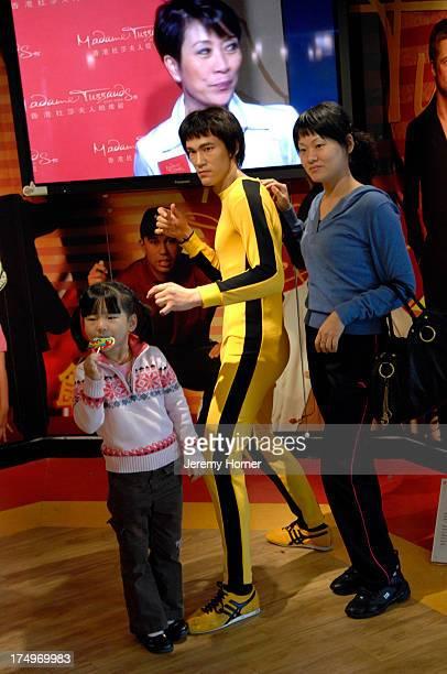 Bruce Lee statue inside Madame Tussauds