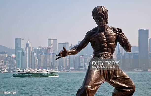 Bruce Lee statue.