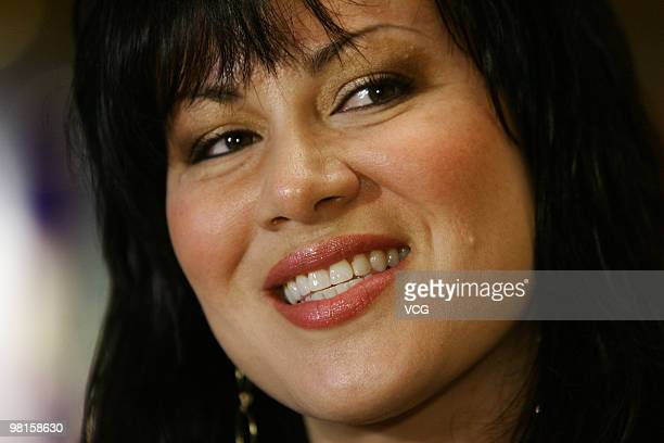 Bruce Lee's daughter Shannon Lee attends opening ceremony for Bruce Lee's exhibition as part of the event at the Hong Kong International Film...