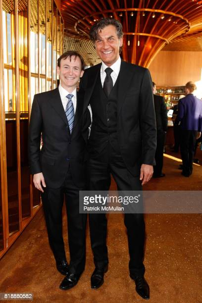 Bruce Levingston and Alfredo Pecora attend Bruce Levingston on Top of The Standard A Premiere Commission Gala at Boom Boom Room on April 28 2010 in...
