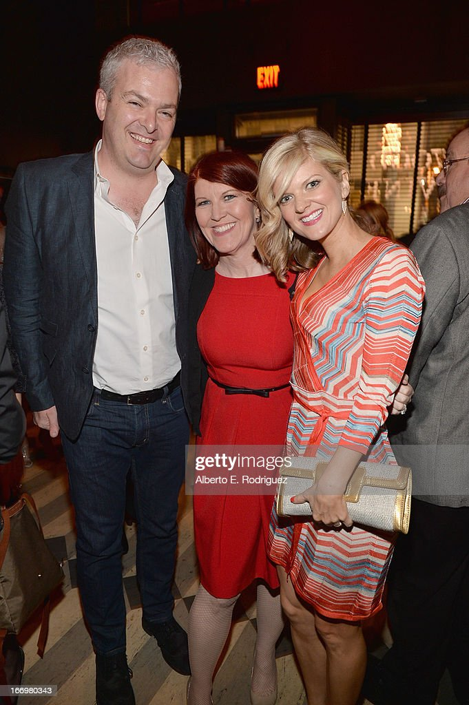 Bruce McCoy, actress Kate Flannery and actress Ardin Myrin attend the after party for the premiere of Cinedigm's 'Arthur Newman' at on April 18, 2013 in Hollywood, California.