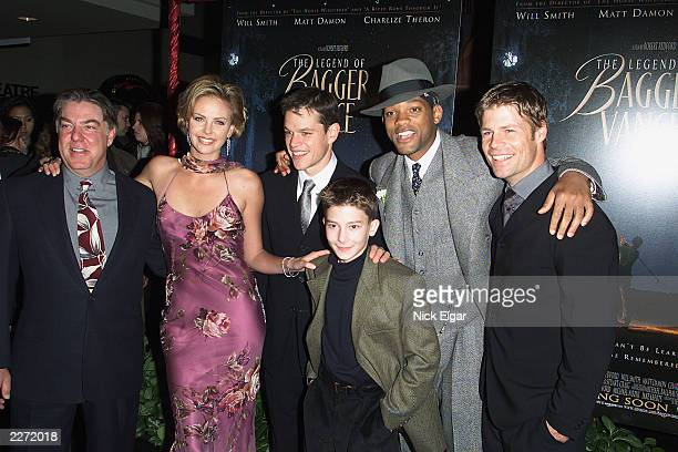 Bruce McGill Charlize Theron Matt Damon J Michael Moncrief Will Smith Joel Gretsch at the premiere of 'The Legend of Bagger Vance' held in New York...