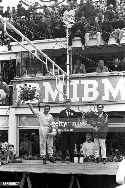 Bruce McLaren Henry Ford II Chris Amon 24 Hours of Le Mans Le Mans 19 June 1966
