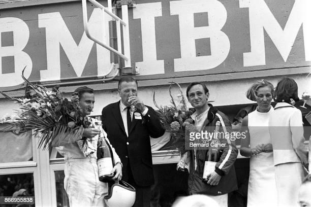 Bruce McLaren Henry Ford II Chris Amon 24 Hours of Le Mans Le Mans 19 June 1966