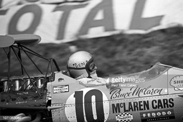 Bruce McLaren McLarenFord M7A Grand Prix of France RouenLesEssarts 07 July 1968