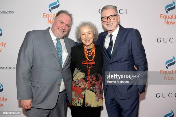 Bruce Miller Margaret Atwood and Warren Littlefield attend Equality Now's Make Equality Reality Gala 2018 at The Beverly Hilton Hotel on December 3...