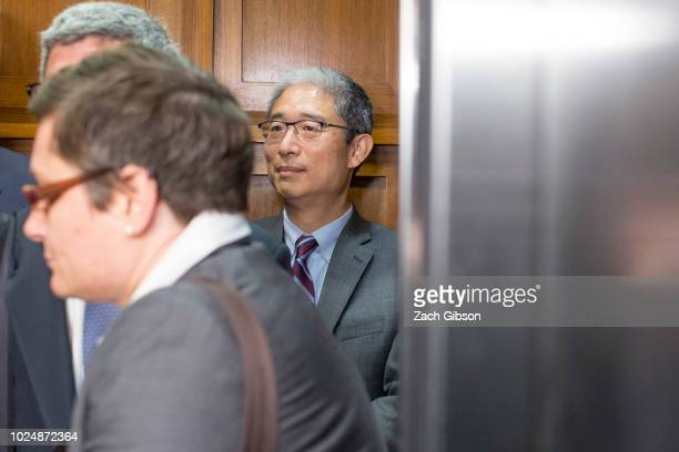 Bruce Ohr former US associate deputy attorney general departs following a closed hearing with the House Judiciary and House Oversight and Government...