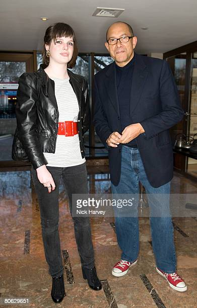 Bruce Oldfield and his neice Rebecca Oldfield attend the Lisa B book launch party held at the InterContinental Hotel on April 10 2008 in London...
