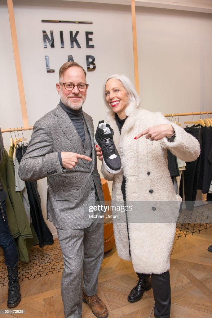 Bruce Pask and Linda Fargo attend Bergdorf Goodman Celebrates the New NikeLab Opening in Goodman's Men's Store at on February 9, 2017 in New York City.