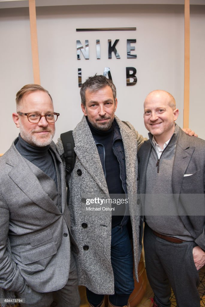 Bruce Pask, Nick Sullivan and Joshua Schulman attend Bergdorf Goodman Celebrates the New NikeLab Opening in Goodman's Men's Store at on February 9, 2017 in New York City.