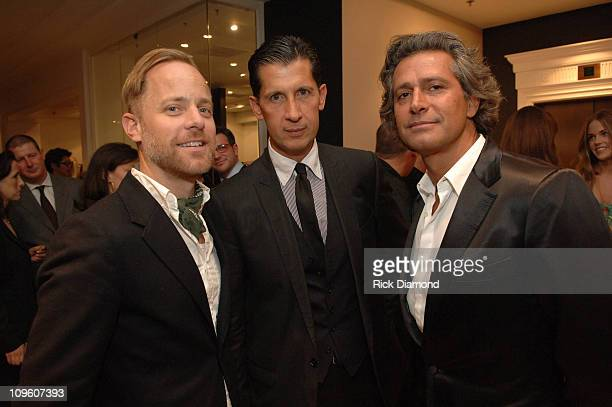 """Bruce Pask, Stefano Tonchi and Carlo Souza during """"T Style"""" Magazine Launch Party at Bergdorf Goodman in New York City, New York, United States."""