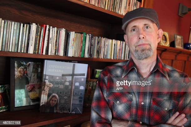 Bruce Pavitt founder of Sub Pop label and the producer of the first Nirvana album 'Bleach' in 1989 is seen at his home in Seattle Washington on April...