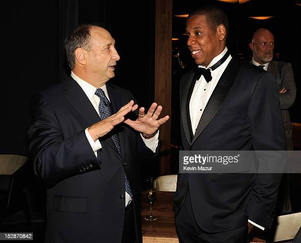 Bruce Ratner and JayZ attend the grand opening of the 40/40 Club at Barclays Center on September 27 2012 in the Brooklyn borough of New York City