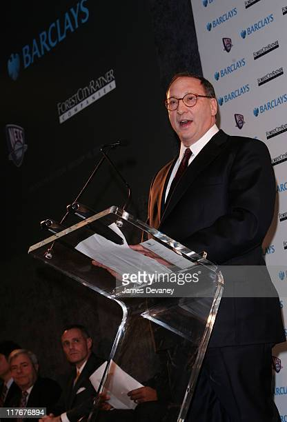 Bruce Ratner during NJ Nets and Forest City Ratner Press Conference in Brooklyn at Brooklyn Museum of Art in Brooklyn New York United States