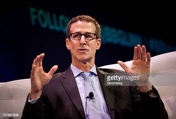 Bruce Richards, chief executive officer and founding partner of Marathon Asset Management LP, speaks during the Bloomberg Hedge Funds Summit in New...