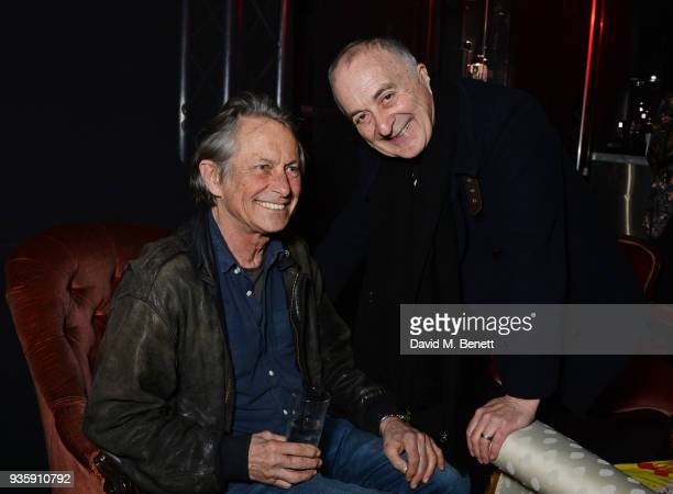 Bruce Robinson and Tony Robinson attend The Perfumer's Story evening of Scentsory delights hosted by Aures London Azzi Glasser at Sensorium on March...