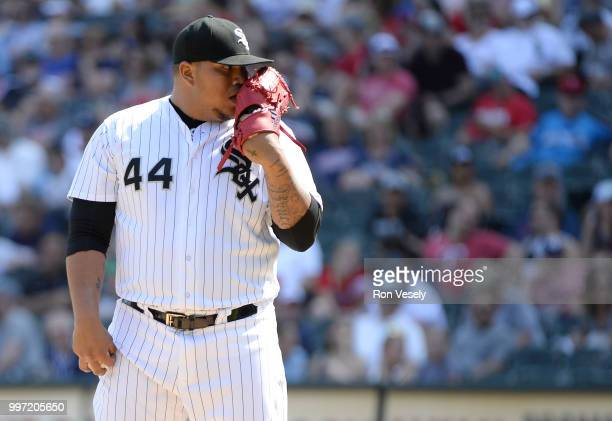 Bruce Rondon of the Chicago White Sox pitches against the Minnesota Twins on June 28 2018 at Guaranteed Rate Field in Chicago Illinois