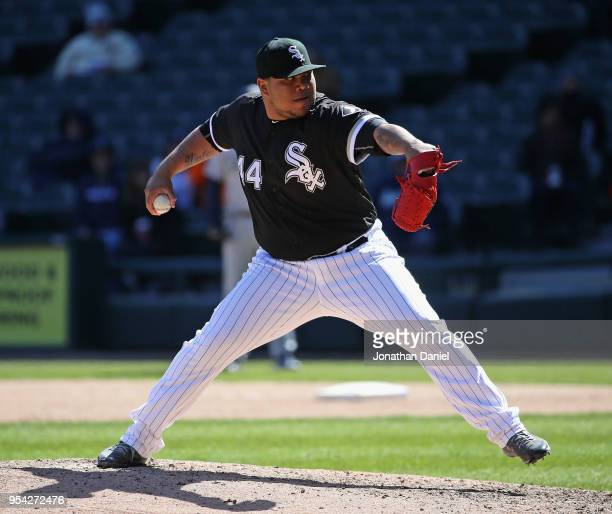 Bruce Rondon of the Chicago White Sox pitches against the Seattle Mariners at Guaranteed Rate Field on April 25 2018 in Chicago Illinois The Mariners...