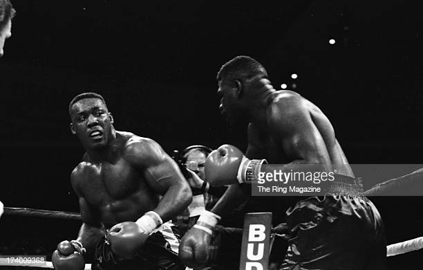 Bruce Seldon looks to throw a punch against Jose Ribalta during the fight at Trump Taj Mahal in Atlantic City, New Jersey.Bruce Seldon won by a RTD 3.