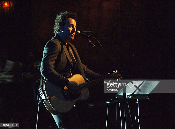 Bruce Springsteen acoustic performance taping of VH1 Storytellers to air on VH1 April 23 2005 at 1000 PM EST