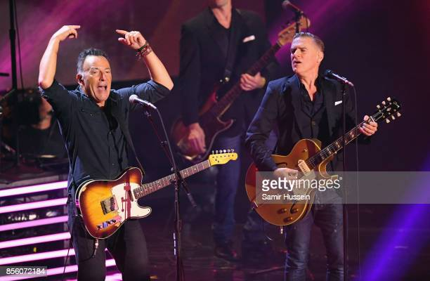 Bruce Springsteen and Bryan Adams perform on day 8 of the Invictus Games Toronto 2017 on September 30 2017 in Toronto Canada The Games use the power...