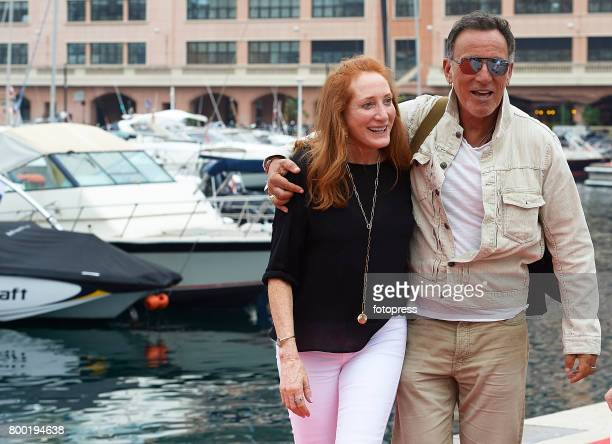 Bruce Springsteen and Patti Scialfa attend Global Champions Tour of Monaco 2017 on June 23 2017 in Monaco Monaco
