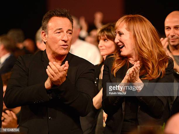 Bruce Springsteen and Patti Scialfa attend MusiCares Person Of The Year Honoring Bruce Springsteen at Los Angeles Convention Center on February 8...