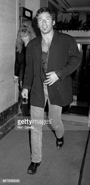 Bruce Springsteen and Patti Scialfa attend Sting Concert After Party on August 24 1988 at the Canal Bar in New York City