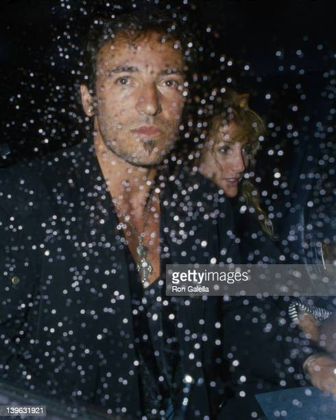 Bruce Springsteen and Patti Scialfa attend Sting Concert Party on August 24 1988 at Canal Bar in New York City
