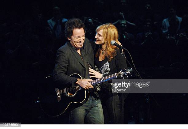 Bruce Springsteen and Patti Scialfa during an acoustic performance taping of 'VH1 Storytellers' to air on VH1 April 23 2005 at 1000 PM EST