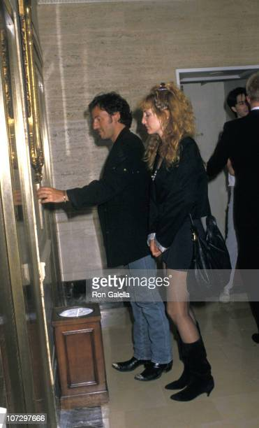 Bruce Springsteen and Patti Scialfa during Bruce Springsteen and Patti Scialfa Sighting at the Westbury Hotel in New York City August 24 1988 at...