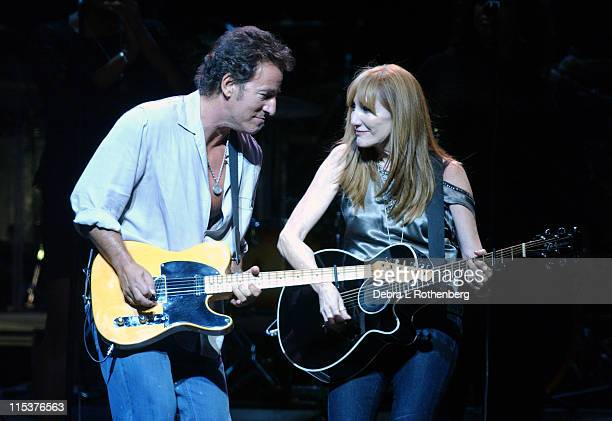 Bruce Springsteen and Patti Scialfa during Vote For Change Closing Night Concert October 13 2004 at Continental Airlines Arena in East Rutherford New...