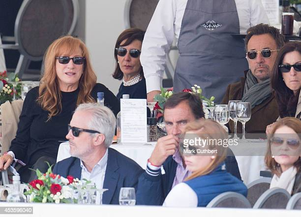 Bruce Springsteen and Patti Scialfa watching Jessica Springsteen compete during the Longines Global Champions Tour at Horse Guards Parade on August...