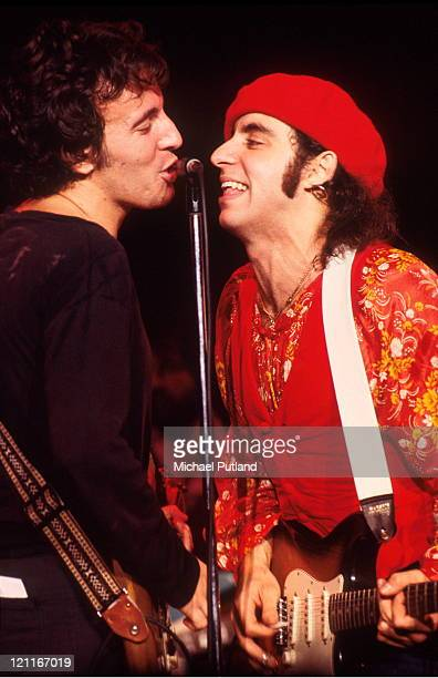 Bruce Springsteen and Steven Van Zandt perform on stage at Capitol Theater New Jersey USA 31st December 1977