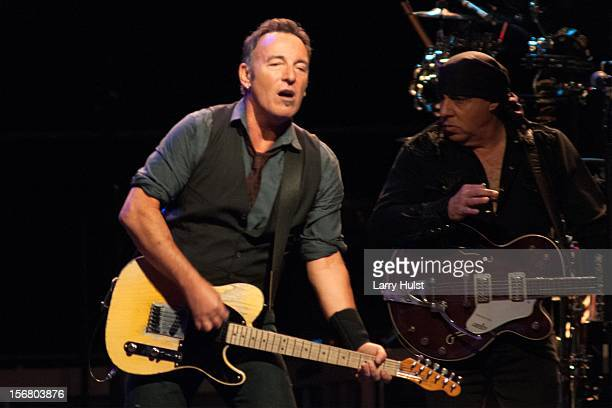 Bruce Springsteen and Steven Van Zandt performing with 'Bruce Springsteen and the E Street Band' at The Pepsi Center in Denver Colorado on November...
