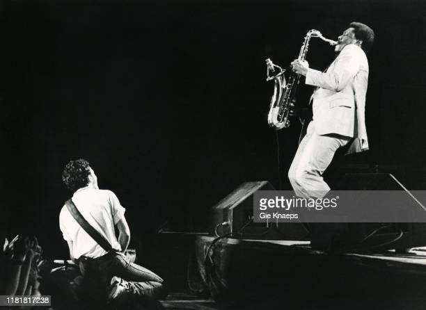 Bruce Springsteen and the E Street Band Bruce Springsteen Clarence Clemons Vorst Nationaal Brussels Belgium 26th April 1981