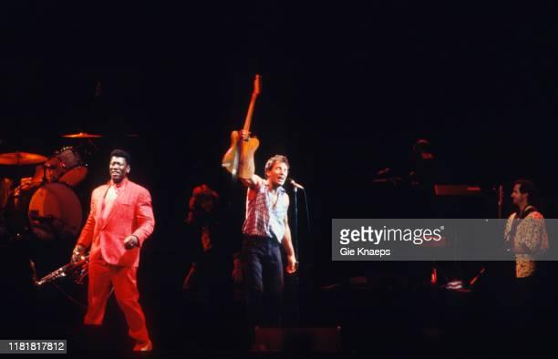 Bruce Springsteen and the E Street Band Bruce Springsteen Clarence Clemons Patti Scialfa Garry Tallent Feyenoord Stadium De Kuip Rotterdam...