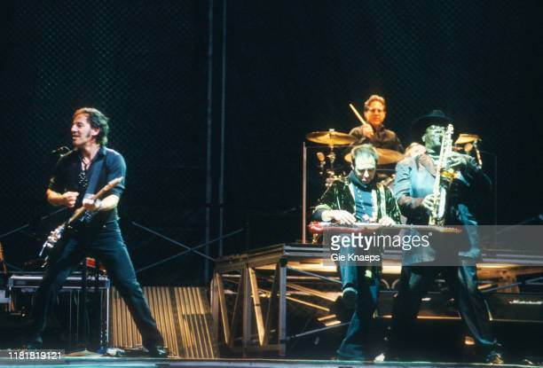 Bruce Springsteen and the E Street Band Bruce Springsteen Nils Lofgren Max Weinberg Clarence Clemons Koning Boudewijn Stadion Brussels Belgium 12th...