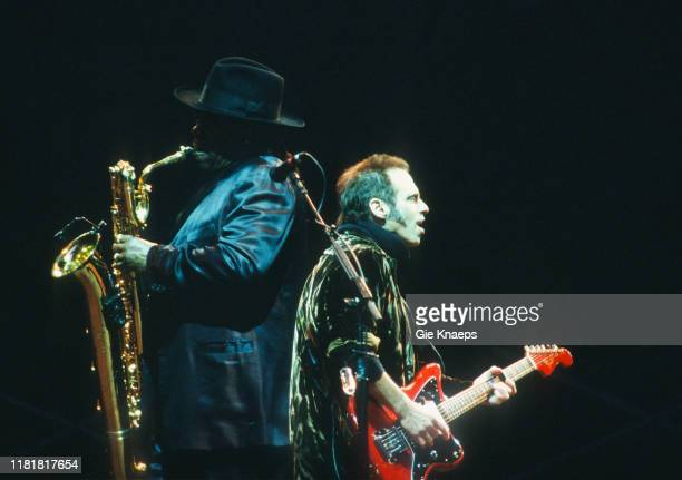 Bruce Springsteen and the E Street Band Clarence Clemons Nils Lofgren Koning Boudewijn Stadion Brussels Belgium 12th May 2003