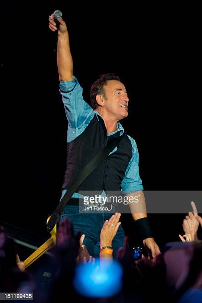 Bruce Springsteen And The E Street Band perform at Citizens Bank Park on September 2 2012 in Philadelphia Pennsylvania With this concert Bruce...