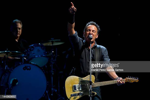 Bruce Springsteen and the E Street Band perform at the Olympic Stadium on May 13 2012 in Seville Spain