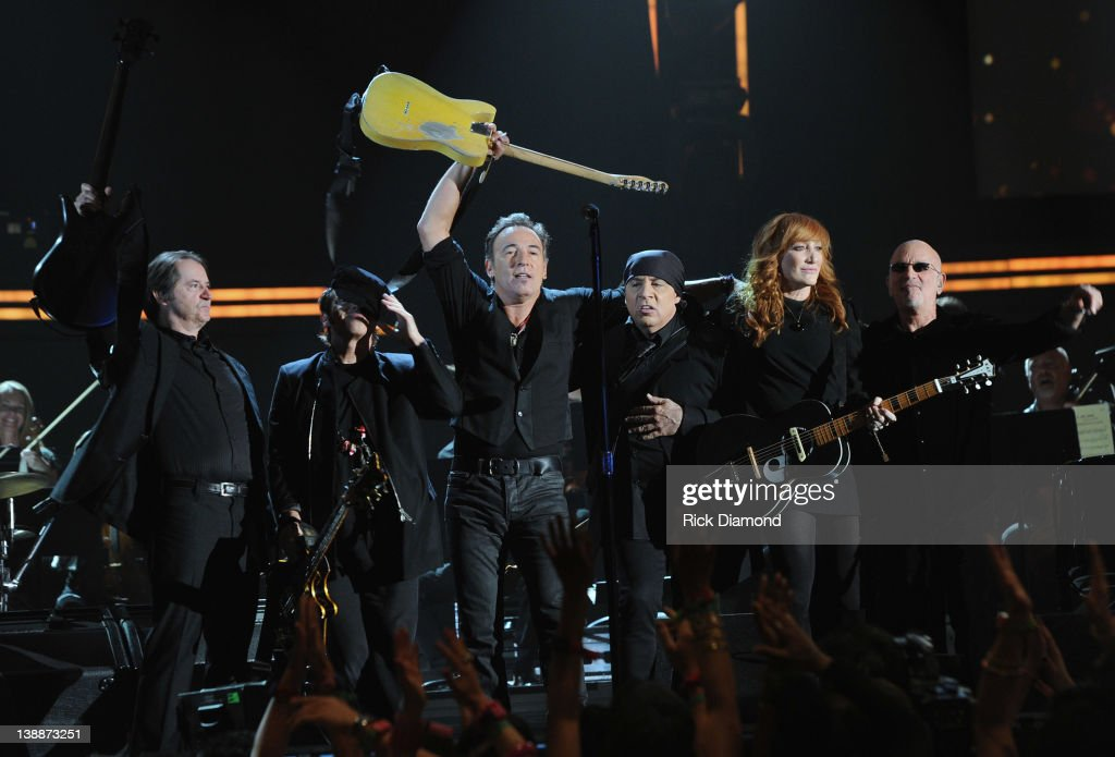 Bruce Springsteen and the E Street Band Perform Live at The 54th Annual GRAMMY Awards at Staples Center on February 12, 2012 in Los Angeles, California.