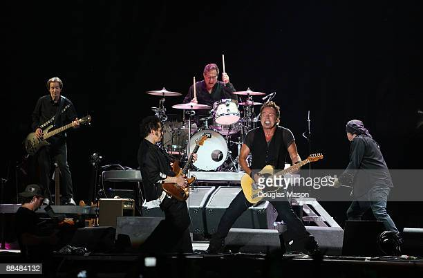 Bruce Springsteen and the E Street Band performs during the 2009 Bonnaroo Music and Arts Festival on June 13, 2009 in Manchester, Tennessee.